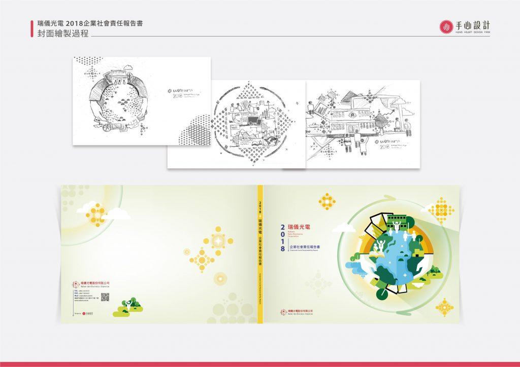 CSR設計_瑞儀光電2018企業社會責任報告書_手心設計_3