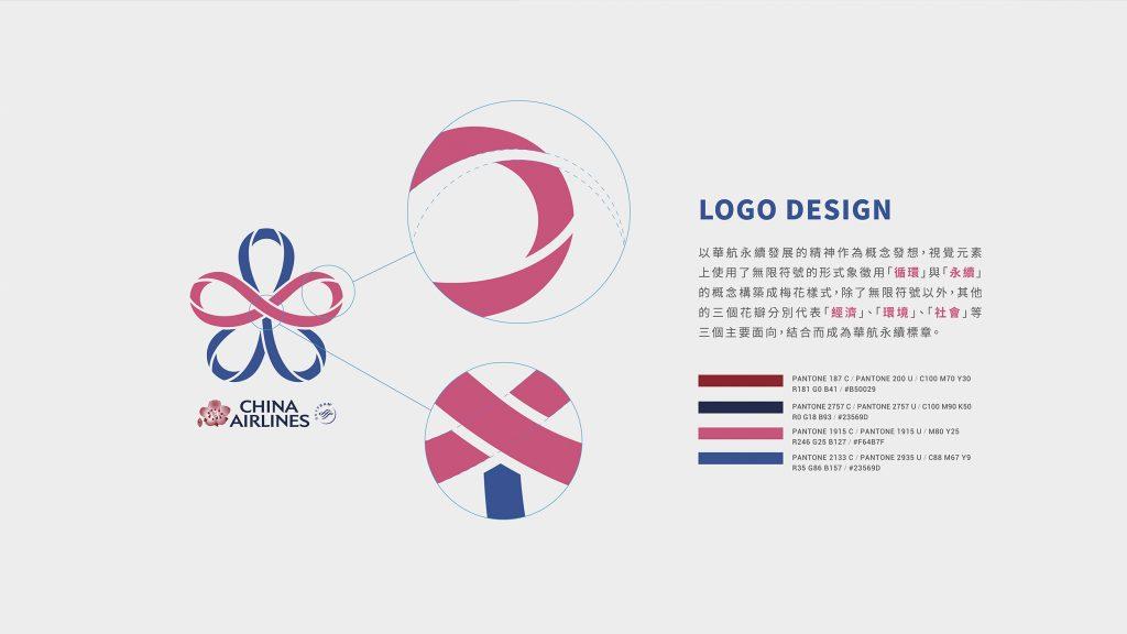 中華航空_China Airlines_永續標章_Logo設計_手心設計